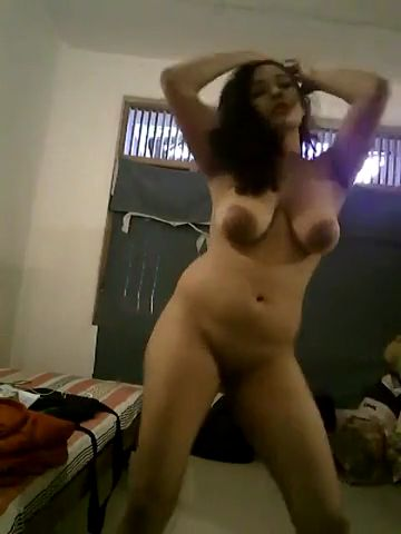Busty indian goddess dances naked on stage